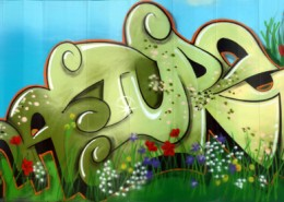 Stage1 Nature mural for RSPB 'Discover the Diff' project proposal