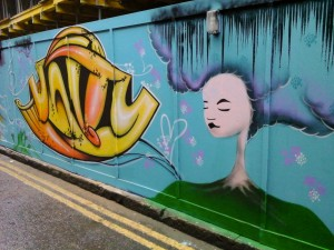 Unity and Pyklops, Shoreditch, London. Blackall Street Female Paint Jam