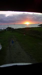 Sunset through the campervan mesh - by Sofie Thomas, age 10